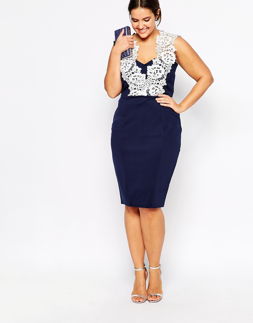 Stunning Blue And White Plus Size Dress Contemporary ...