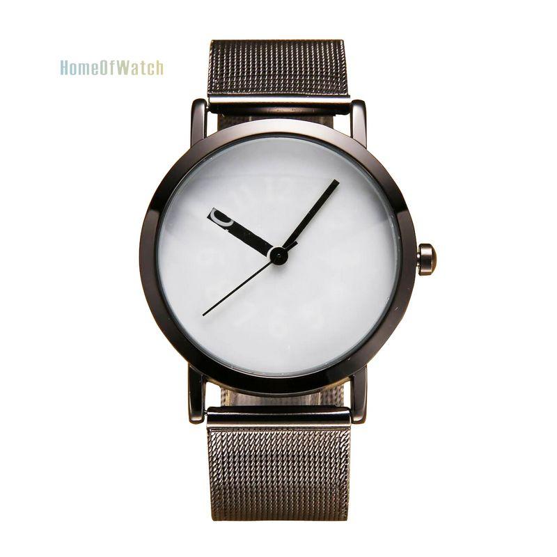 2016 New Brand Women's Fashion Simple Display Dial Wrist Watch Grid Stainless Steel Bracelet Quartz Watch (NBW0QU8093-HL2)(China (Mainland))
