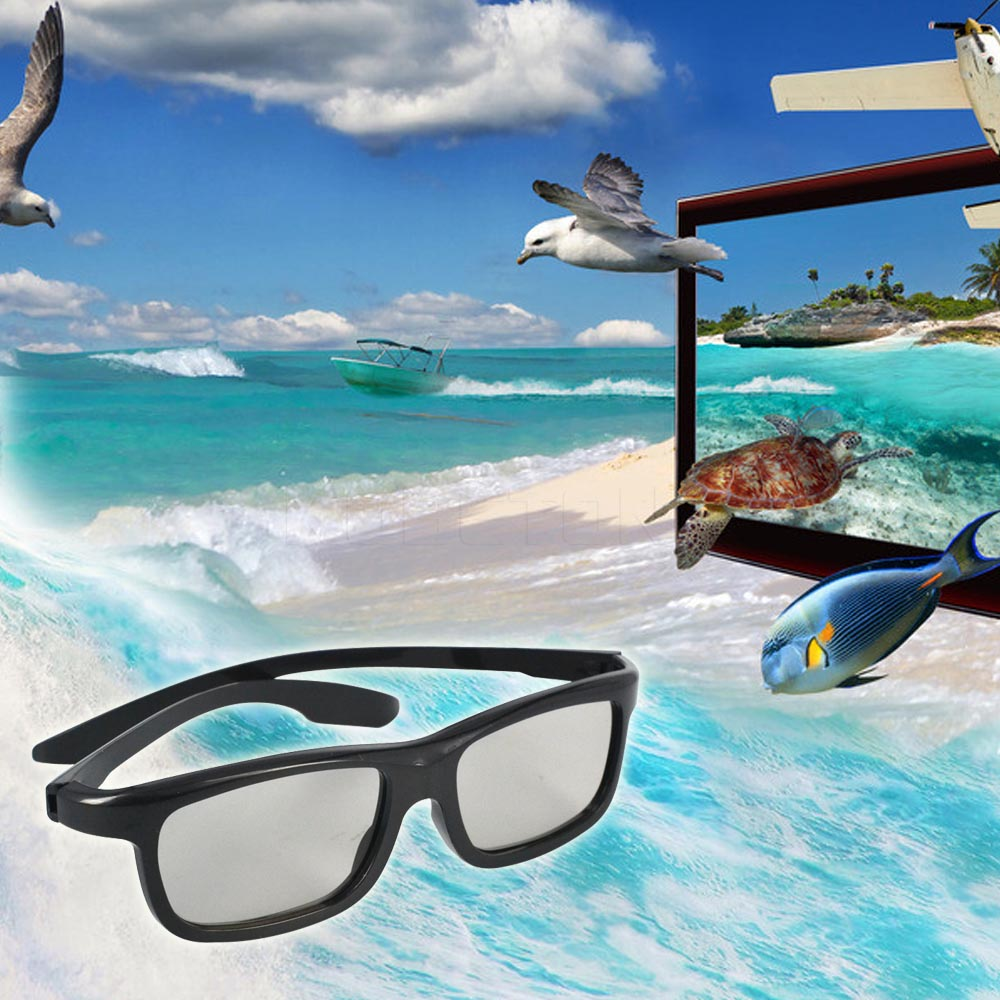 Light Weight Passive Polarized 3D Sunglasses Glasses 3D Vision Glasses for Sony for Samsung Dimensional Anaglyph Movie DVD TV(China (Mainland))