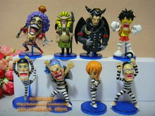 Free Shipping Japanese Anime One Piece Luffy NO.2 PVC Figures Toys 8pcs/set AOP072