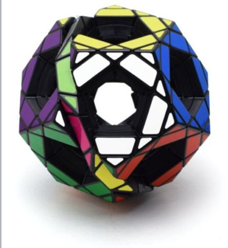 Black Mf8 Gigaminx 12 Color Polygonal Megaminx Magic Cube Twist Puzzle #011(China (Mainland))
