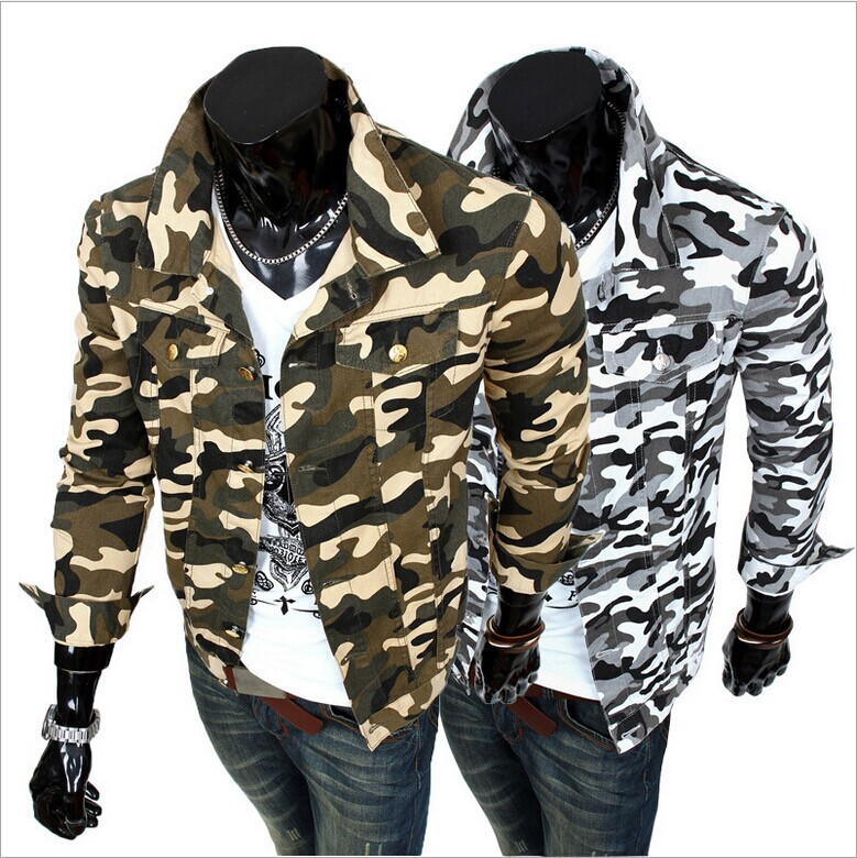 Men's outdoor mosaic camouflage jacket frock coat large size men's casual sports(China (Mainland))