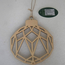 customized artifical 11.5*13.5cm wooden ornaments made by hand factory shop