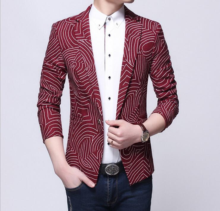 Korean 2015 New Fashion Spring Designer Brand Mens Slim Fit Wool Blazer Men Suit Jacket Party ...