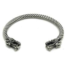 Mens Boy 316L Stainless Steel Cool Dragon Head Newest Design Bangle  Bracelet