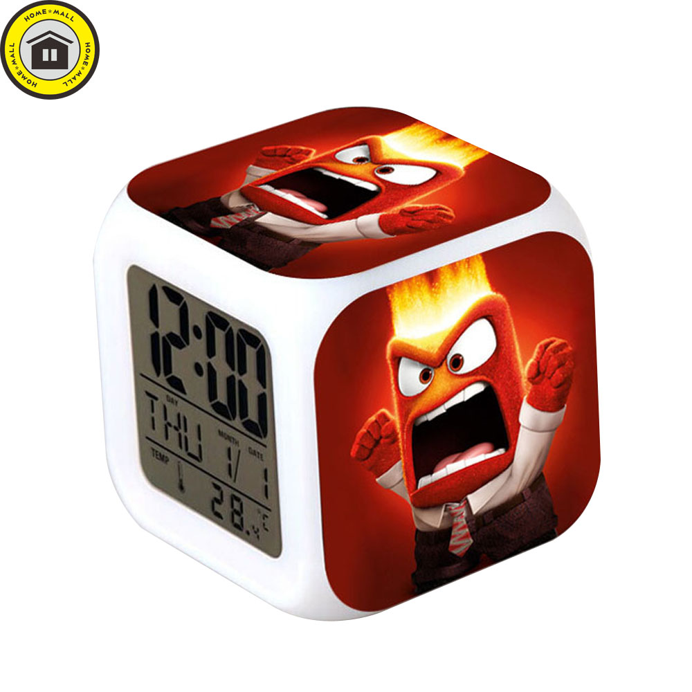 USB Charger In Box reloj despertador Inside Out Night Light Digital Alarm Clocks 7 LED Color Flash Clock wekker reveil Watch Hot(China (Mainland))