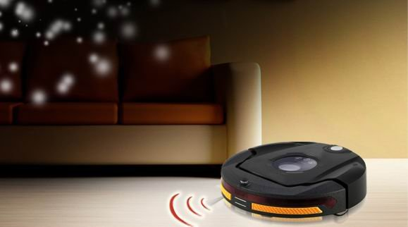 multifunctional robot vacuum cleaner automatic charge(Sweep,Vacuum,Mop,Sterilize),LED Touch Screen,Schedule Work,Virtual Wall