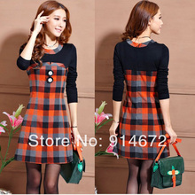 Free shipping NWT 2016 Super Dresses New Fashion Womens Casual Dress Long Sleeve Dress for lady