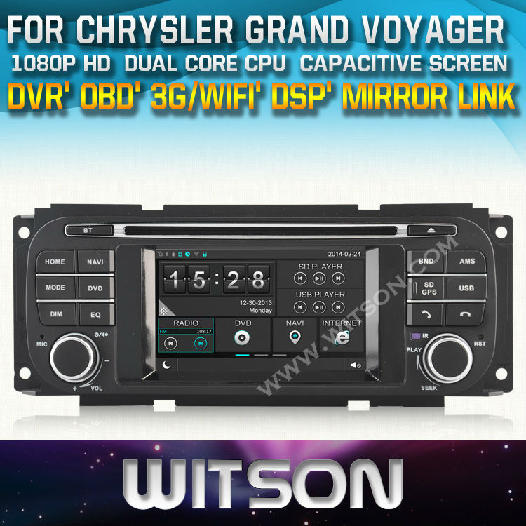 WITSON CAR DVD GPS for CHRYSLER GRAND VOYAGER with New Technology Capctive Screen+1080P+DSP OBD/DVR (optinal)+Free shipping(China (Mainland))