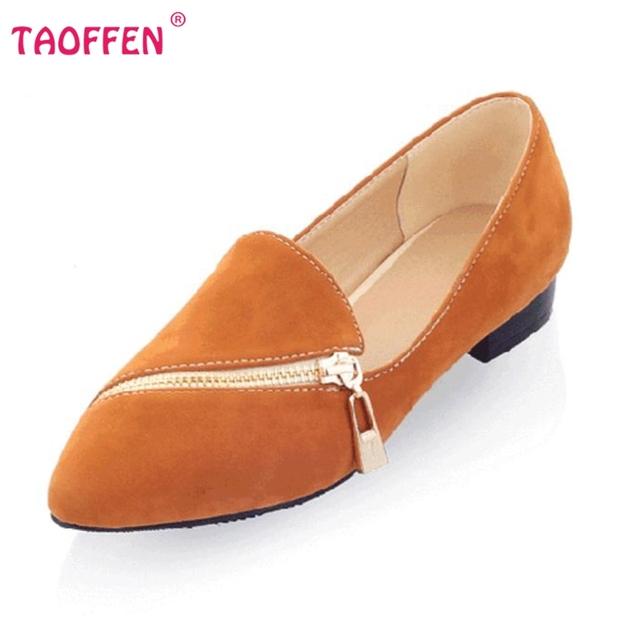 TAOFFEN бесплатная доставка плоские повседневная обувь женщин сексуальное платье ...
