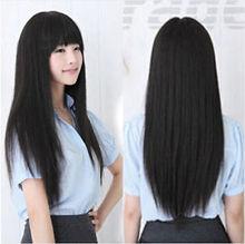 Korean Fashion Long Straight Cosplay Party Women Girl Kawaii Hair Full Wig