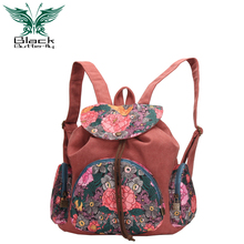 Mochila Feminina Limited Women Backpack Mochilas Canvas Bag Shoulder Bag, 2016 New Wind Korean Printing Package Travel Backpack(China (Mainland))