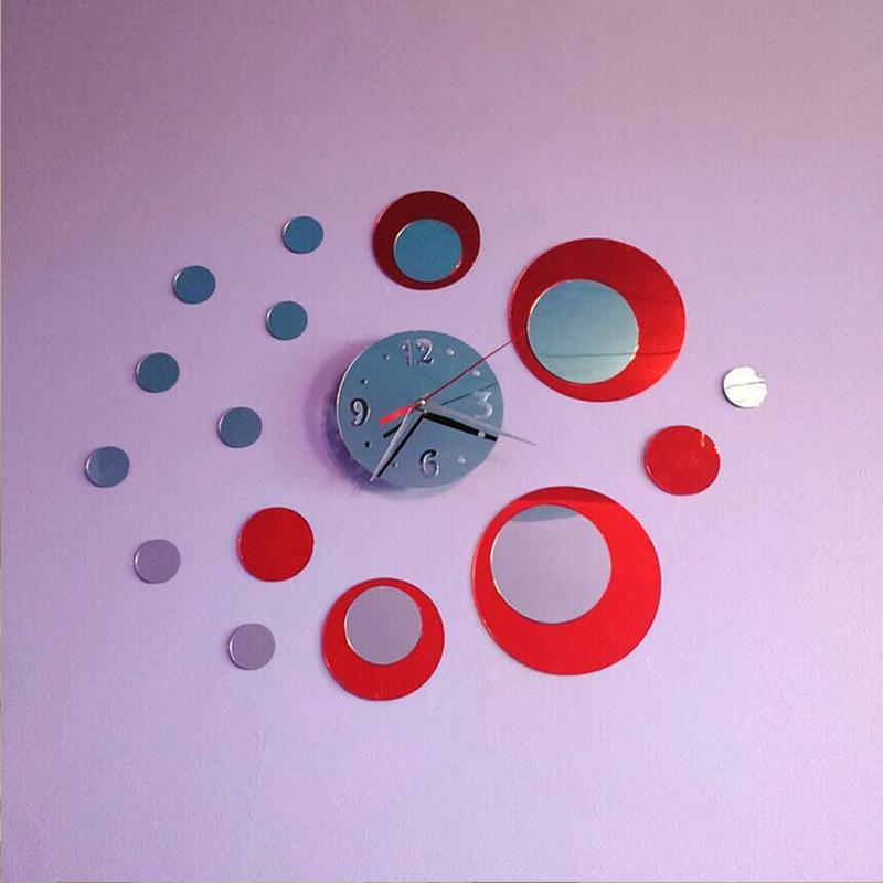 promotion 2015 sale top fashion watch real quartz wall clocks 3d acrylic clock design luxury mirror diy stickers free shipping(China (Mainland))