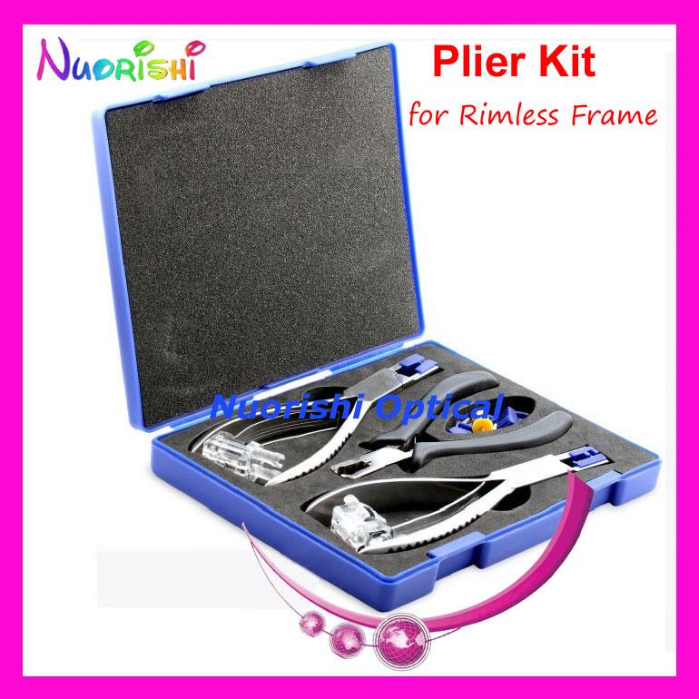 Professional Eyewear Silhouette Plier Set For Rimless Frame Glasses Tool Kit Set B01A Free Shipping(China (Mainland))