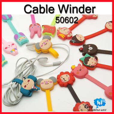 WHOLESALE Cable Winder Cartoon Animal Clip Earphone Cord Organizer Table Wire Tidy Up Office Promotion Gift 60pc/lot sayhi 50602(China (Mainland))