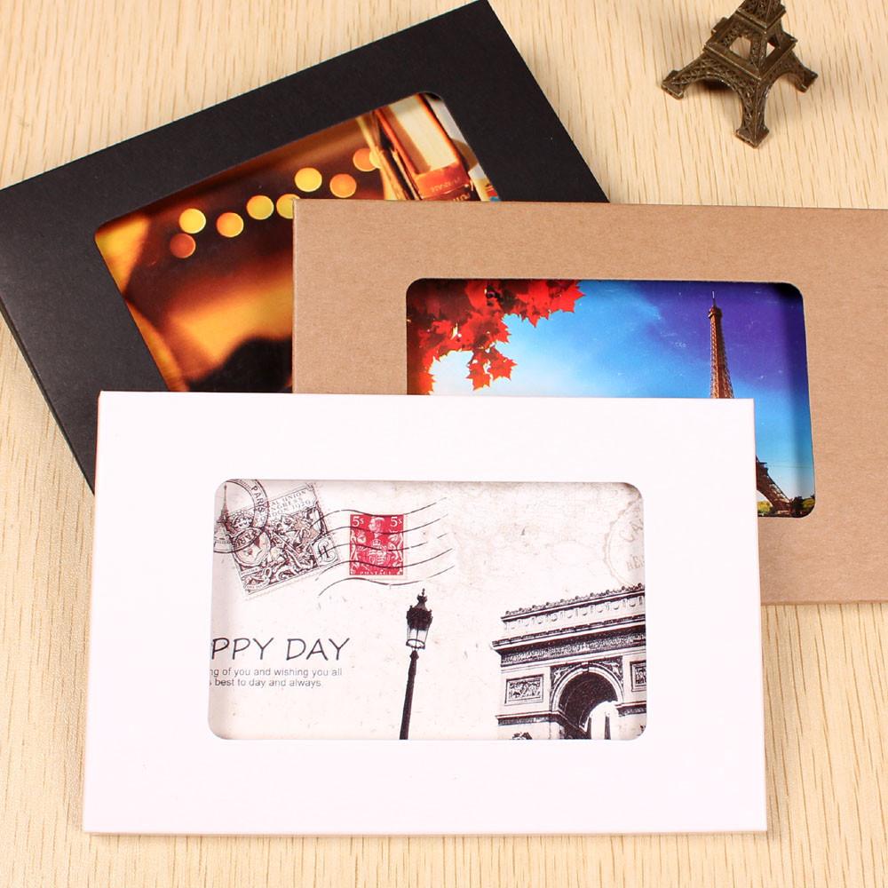 Гаджет  20Pcs/ Lot 10.2*15.5+0.5cm Universal Kraft Paper Window Pack Box For Photo, Postcard Card Packing Kraft Paper Boxes With Window None Офисные и Школьные принадлежности