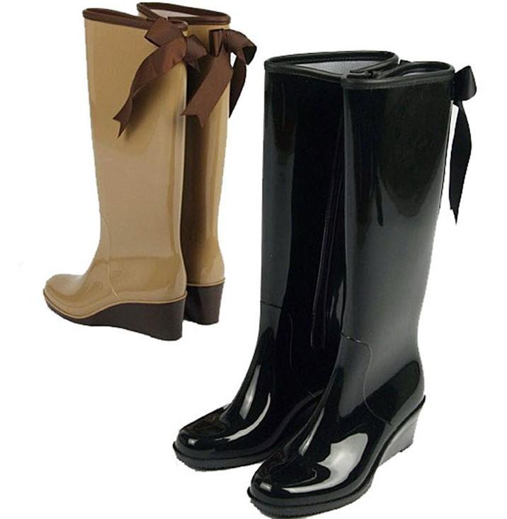 talon compens bottes de pluie genou bottes pvc de pluie. Black Bedroom Furniture Sets. Home Design Ideas