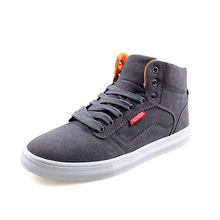 2014 Autumn And Winter Male Canvas Shoes Male Fashion Trend Sailing Shoes Casual High-Top Shoes Skateboarding Shoes H168(China (Mainland))