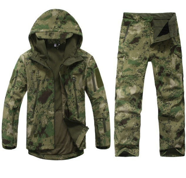 2016 Tad v 4.0 Shark skin soft shell lurkers outdoors tactical military jacket+ uniform pants suits Camouflage hunting clothes(China (Mainland))