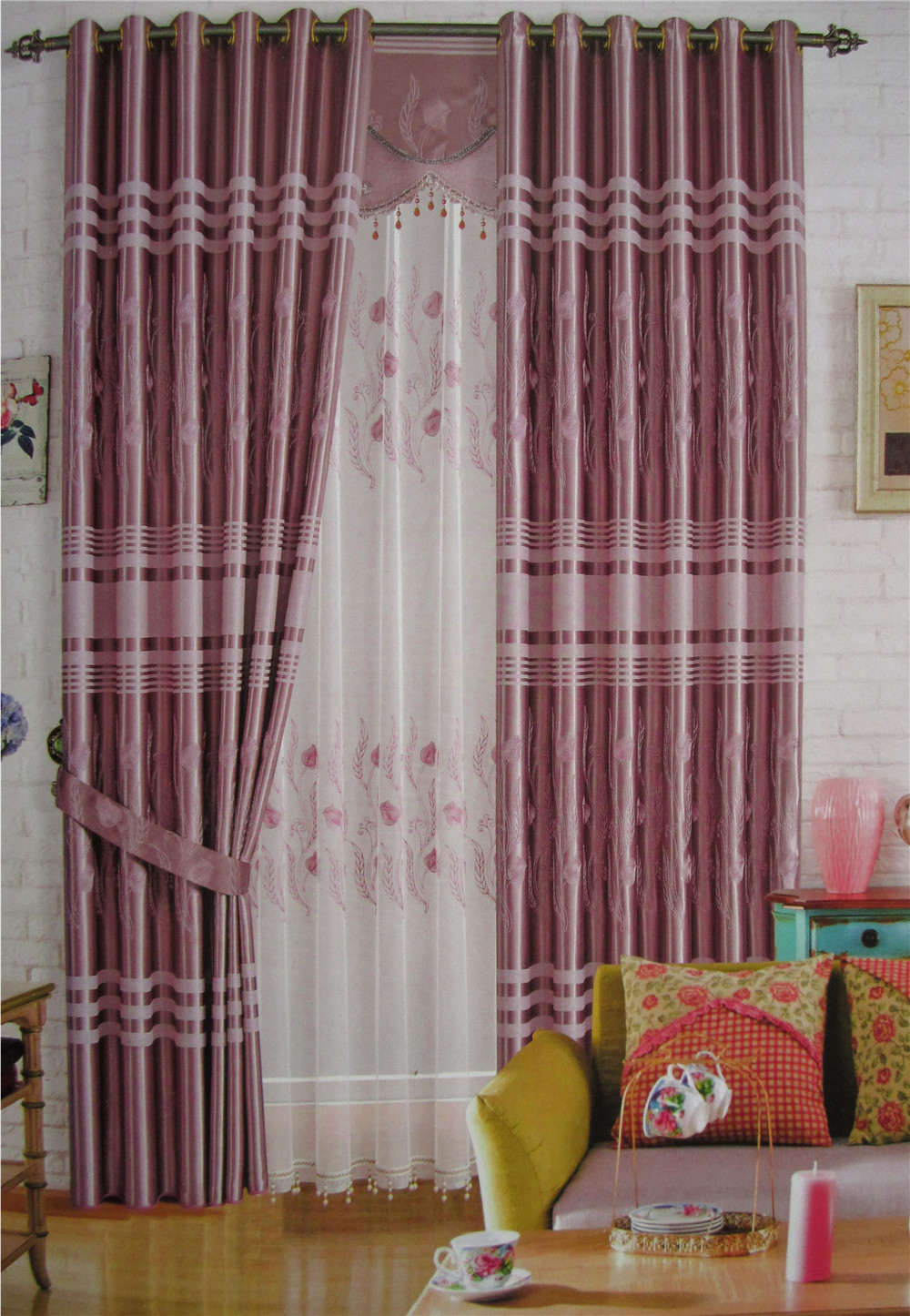 Living room curtains bedroom curtains L009127 Curtain custom made ready made curtains for widows Free Shipping(China (Mainland))