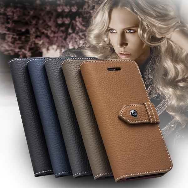 QIALINO High Quality Luxury Retro Genuine Leather Case For iphone 5 5S 5G ,Flip Cover handmade wallet phone cases for i phone
