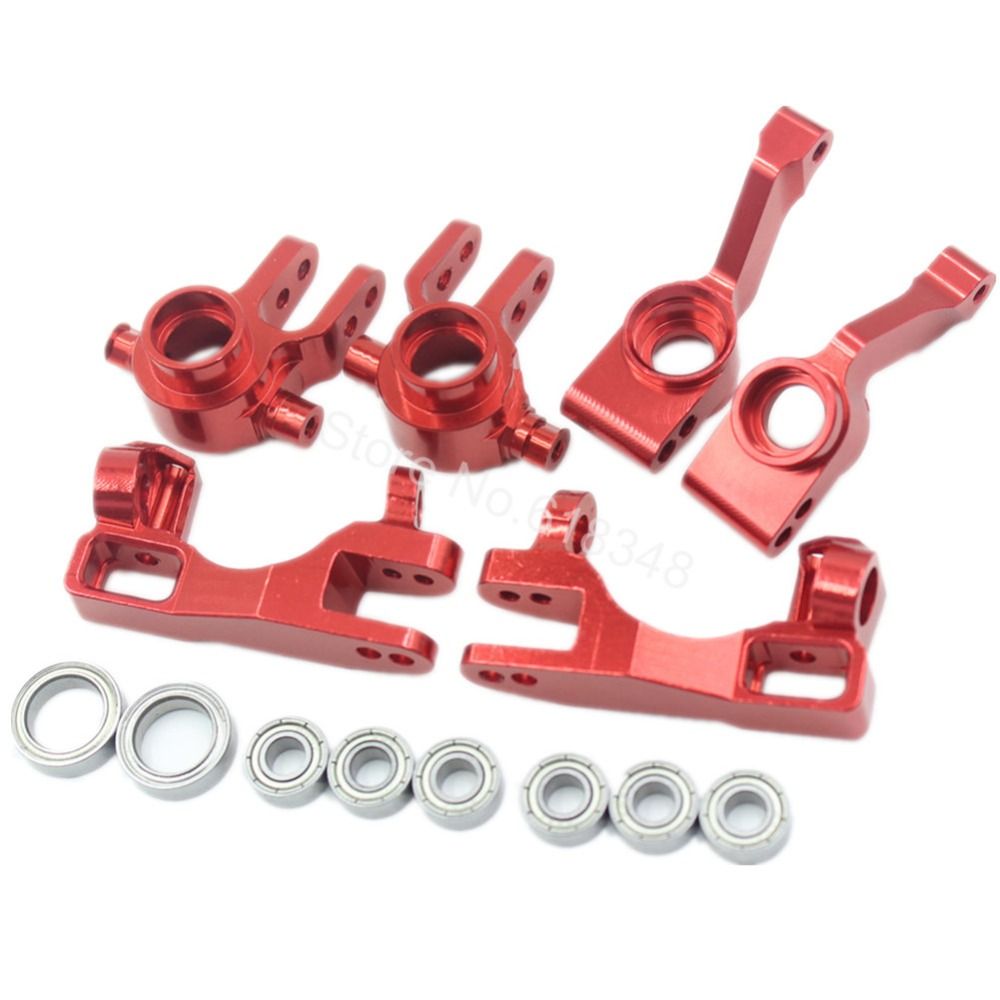 1/10 Traxxas Slash 4x4 Anodized Aluminum Left & Right Steering Blocks (Part # 6837X) C-Hubs 6832X Axle Carriers Caster
