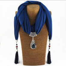 Silk Scarf Necklace Peacock Pendant Neckerchief Scarves Women Printed Silk Muffler 2017 New Designer Scarfs Jewelry Bijoux(China (Mainland))