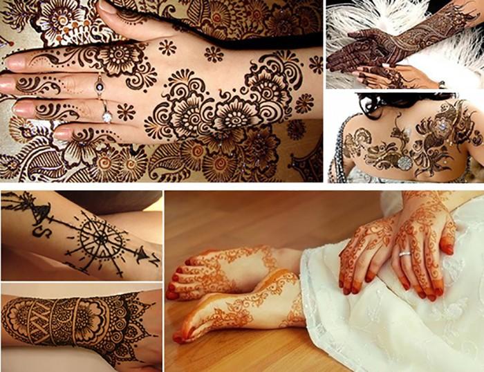 Mehndi Tattoo Temporary : Wholesale henna tattoo stencil for glitter template