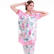 ladies silk pajama suit
