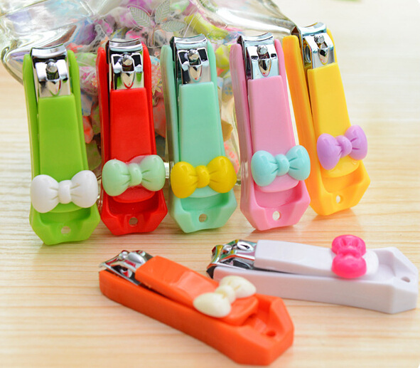 New Cindy Color Bow Baby Nails Clippers Cute Infant Nail Clipper Scissors Nail Care Baby Care(China (Mainland))
