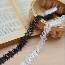 2016 algodão Bege rendas vestido bordado lace malha largura 2 cm Venda Quente