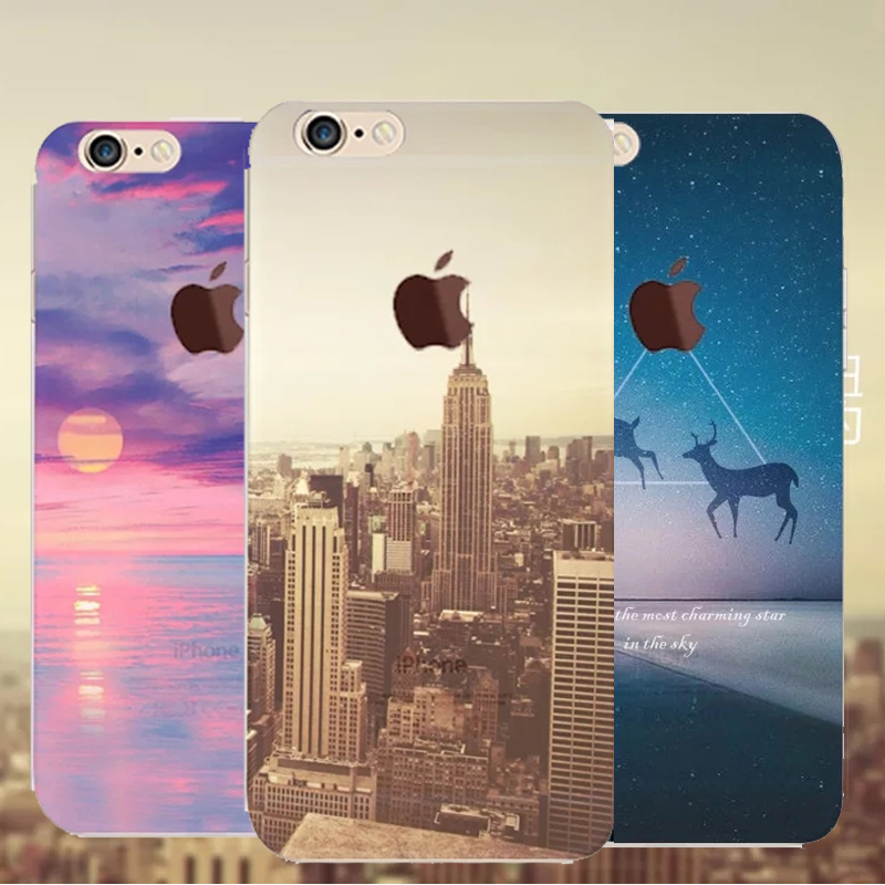 Beautiful City Mountain Tower Ultra Thin Series Crystal Soft Case For Apple iPhone 6 6S Case 4.7 6 Series TPU Crystal For Phone(China (Mainland))