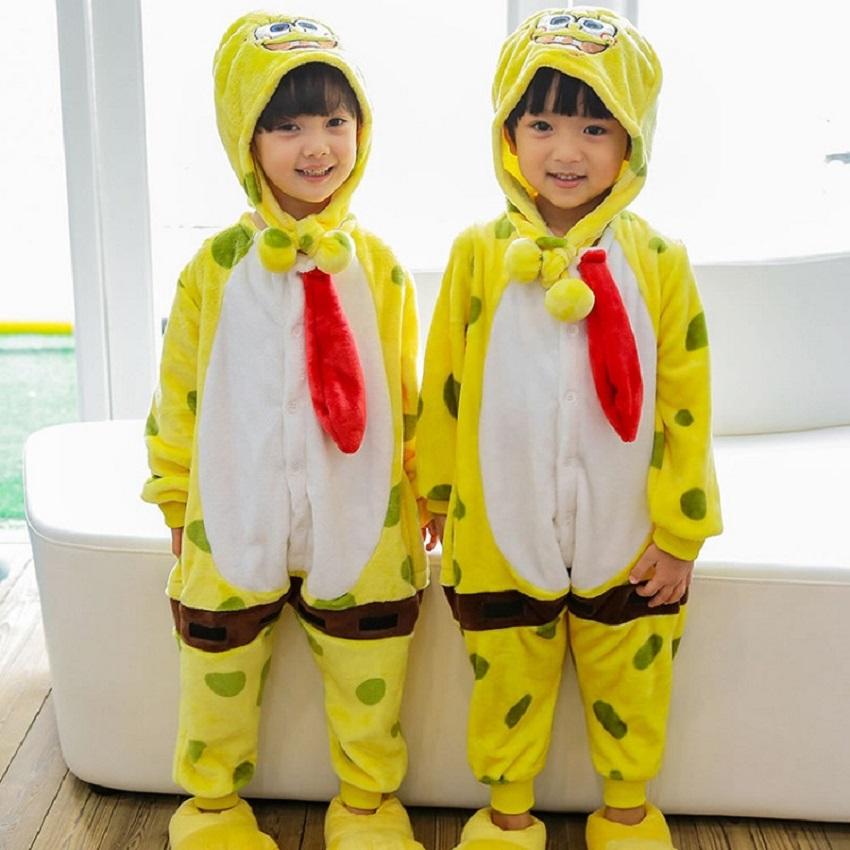 Wholesale Cartoon Kigurumis Unicorn Stitch Panda Kids Pajamas Hooded Girls Boys Pajama Child Cosplay Animal Onesies Sleepwear