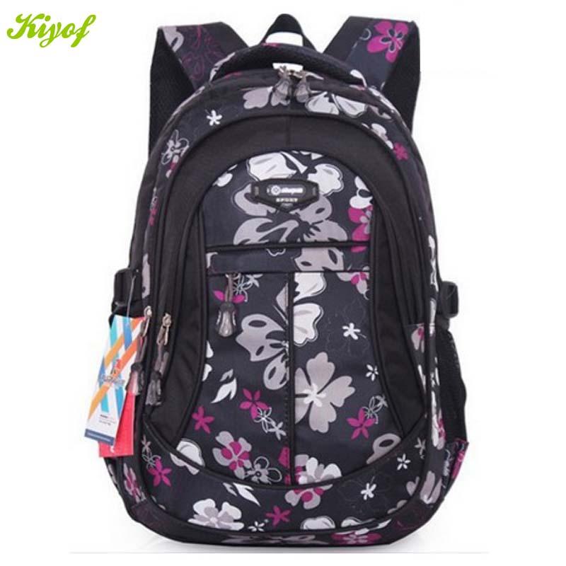 1PC School Bags For Girls Fashion Flower Waterproof Children Backpacks Mochila Escolar ZZ3198