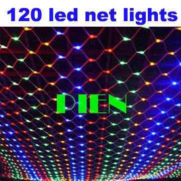 120 LED holiday party string lights 220V 120V Christmas New Year Garland Outdoor Web Net Lamparas 1.5m x 1.5m by DHL 15pcs/lot<br><br>Aliexpress