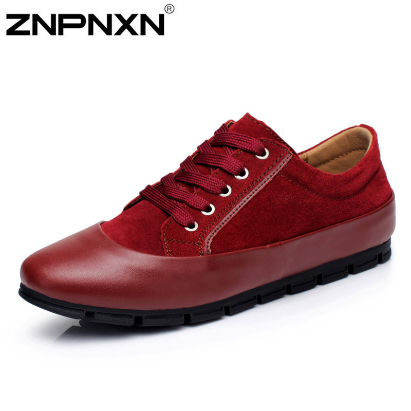 Fashion Formal Shoes Men Sneaker Suede Genuine Leather Casual Flats Men Moccasin Oxford Shoes For Men Flats Athletic Shoes Sapat<br><br>Aliexpress