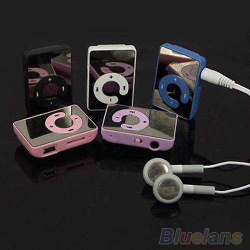 Mini Clip USB MP3 Music Media Player Support 1 8GB Micro SD TF Headphone Cable 4FNP