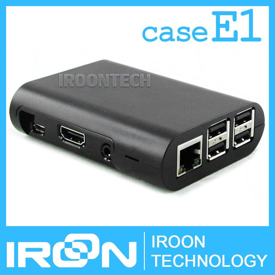 case E1: Raspberry PI3 model B Black Case Cover Shell Enclosure ABS Plastic Box for Raspberry PI 2 Model B and Model B+(China (Mainland))
