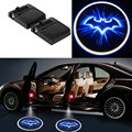 Wireless 2pcs No Drill Type Car Door Welcome Light Logo Badge Lights LED Laser Ghost Shadow