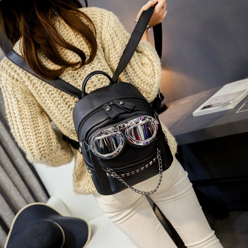 2016 cool sunglasses fashion women backpacks Korean rivet mini school bag backpack for youth lady College girls rucksack (15)