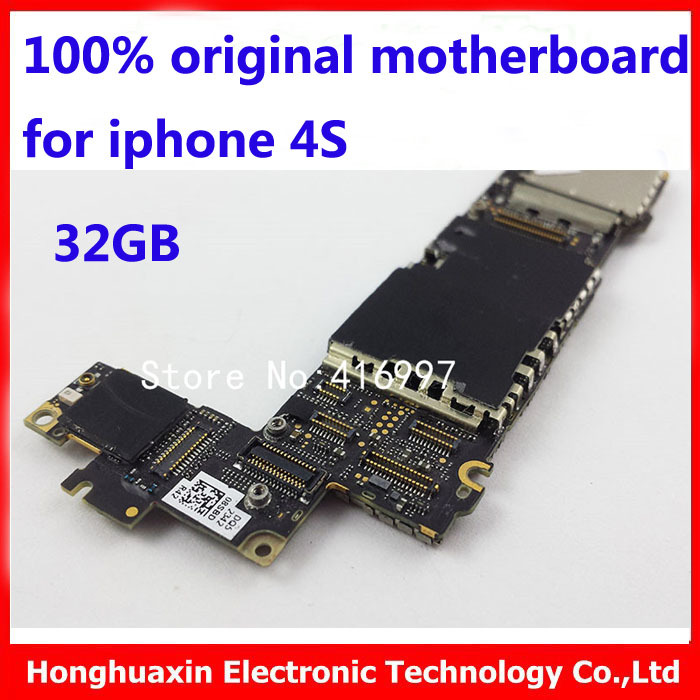 32GB motherboard iphone 4s original mainboard Factory unlocked logic board Smart phone Motherboard good working - HHX Electronic Technology Co., Ltd. store