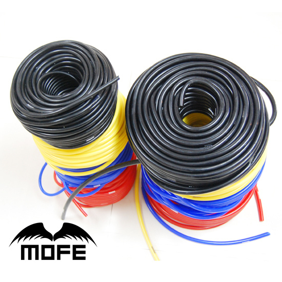 MOFE 50M Black Red Blue Yellow silicone pipe Internal Diameter: 4MM Silicone Vacuum Hose(China (Mainland))