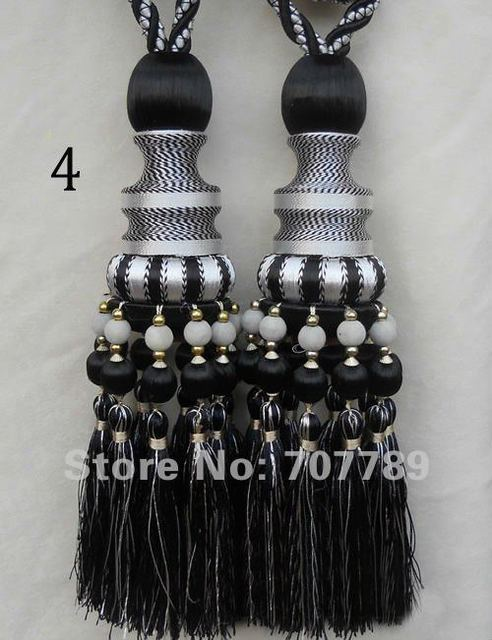 window curtain tassel Single ball colored surtain tassel home decor textile.home furnishing black red blue yellow purple