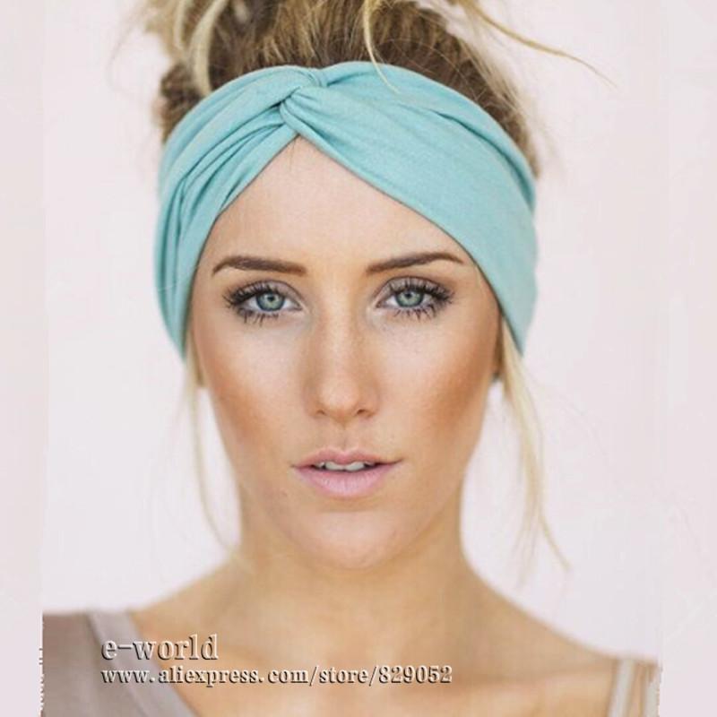 DHL Free 34 Colors Stretch Twist Headbands For Women Turban Head Wrap Bandana Turbante Hairband Girl Hair Accessories A0440(China (Mainland))