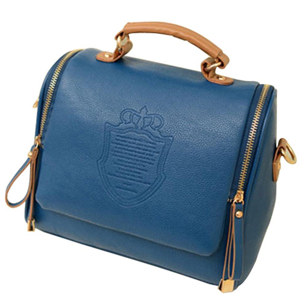 VSEN Fashion Women Handbag Synthetic Leather Vintage Stamping Shield Camera Satchel Shouder Bags Messenger cross body bag
