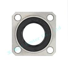 2pcs lot LMK20UU 20mm flange linear ball bearing bushing for 3d printer linear shaft guide rail