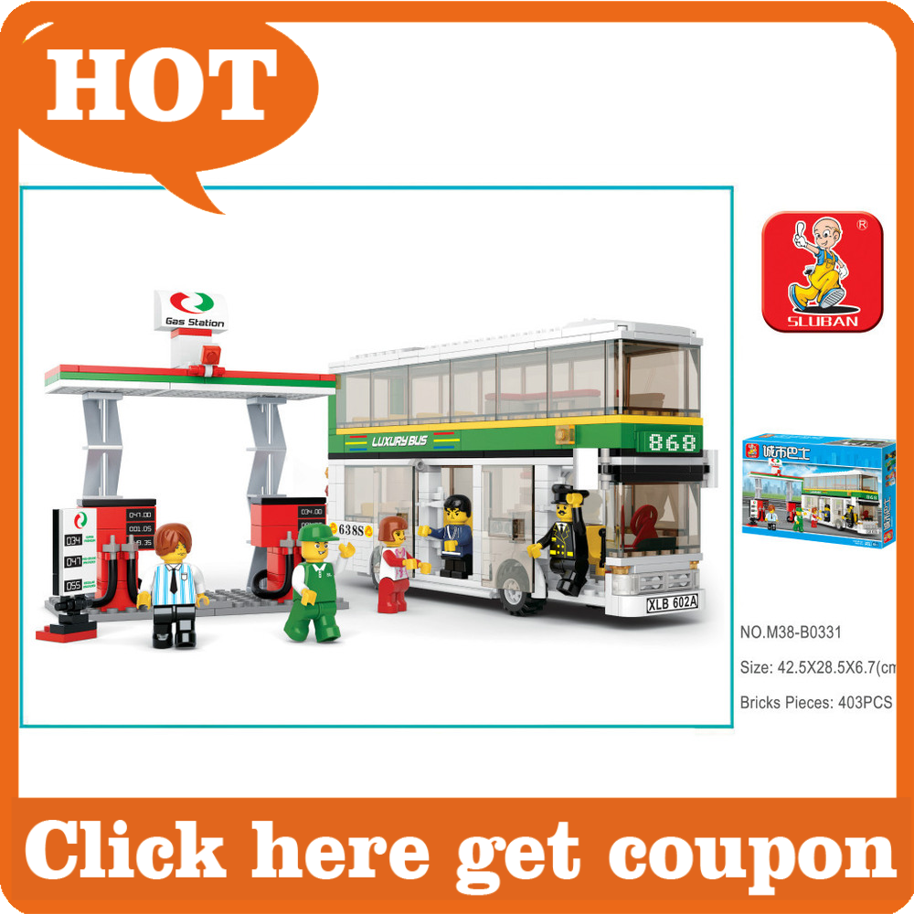 Compatible With Lego Building Block Set SLuBan M38-B0331 City bus/double mini bus 403PCS 3D Model Educational building blocks<br><br>Aliexpress