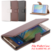 A5 /A7 /A8 Vintage Wallet Stand Genuine Leather Cover for Samsung Galaxy A5 A500 /A7 A700 /A8 Deluxe Protective Flip Phone Case