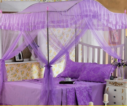With Stainless Steel Frame Mosquito Net Princess Mosquito Net Structurein Royal Three Door Royal Bed Mantle(China (Mainland))