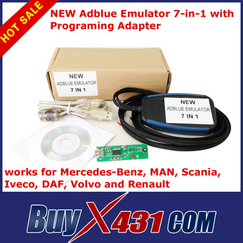 2014 Hot selling  Truck Adblue Emulator 7 in 1 for Benz MAN Scania Iveco DAF Volvo Renault - 100% Quality A With Free Shipping